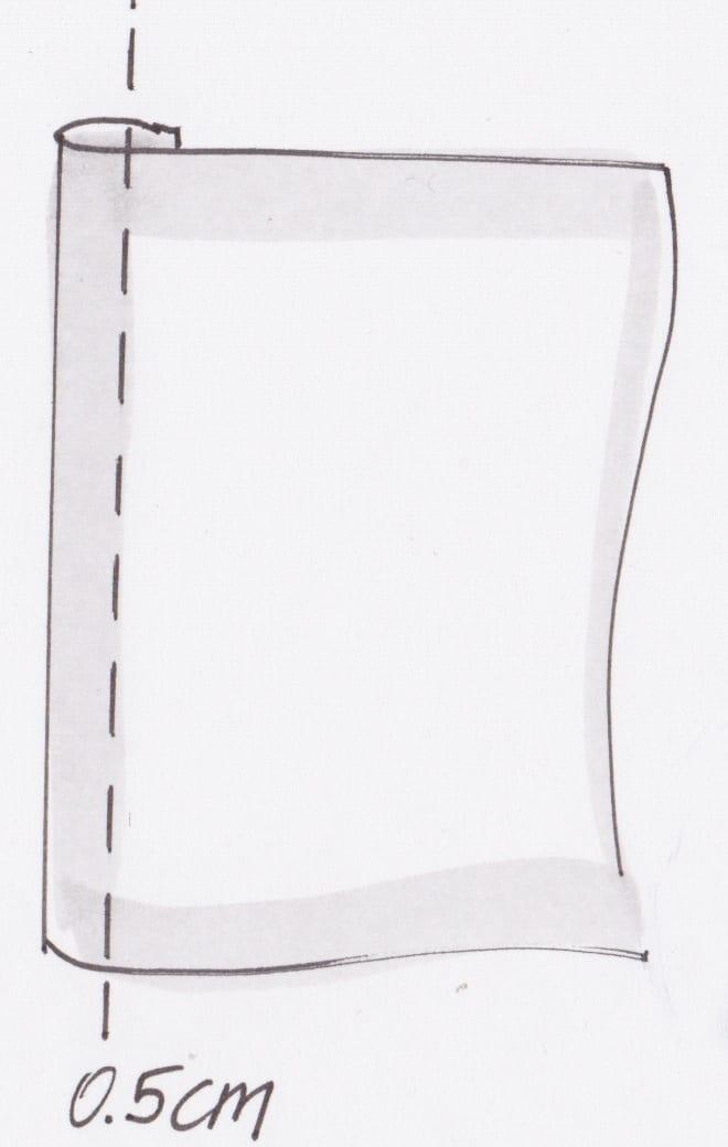 zeichnerische Darstellung Nahtbreite 0.5 cm